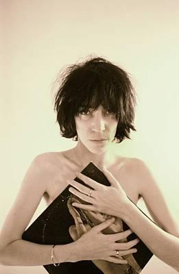 Photograph - Patti Smith Portrait Session by Michael Ochs Archives