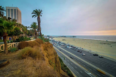 Photograph - Scenes Around Santa Monica California At Sunset On Pacific Ocean by Alex Grichenko