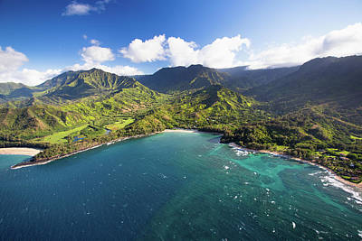 Green Color Photograph - Scenic Aerial Views Of Kauai From Above by Matthew Micah Wright