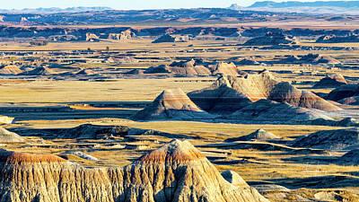Photograph - A Badlands Valley Vista by Jim Thompson
