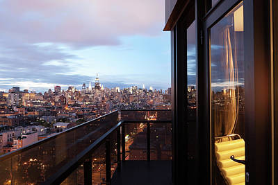 Balcony Photograph - A Balcony View Of Manhattan During by Andrew Rowat