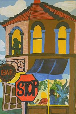 Painting - A Bar In Missouri by Delorys Tyson