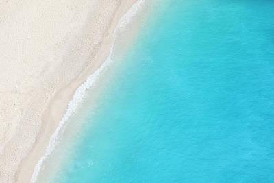 Photograph - A Birds Eye View Of A White Sandy Beach by Tadejzupancic