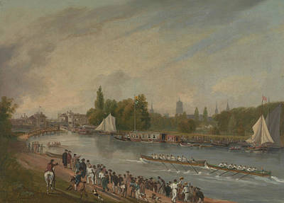 Painting - A Boat Race On The River Isis, Oxford by John Whessell