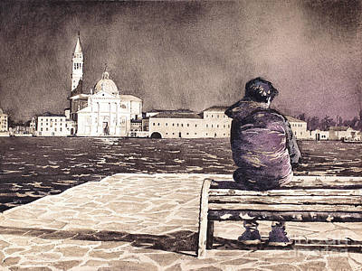 Painting - A Boy In Venice by Ryan Fox