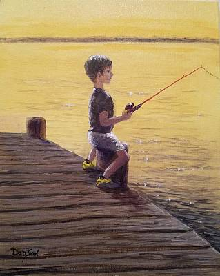 Painting - A Boy's First Love by Dara Dodson