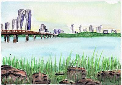 Painting - A Bridge In Suzhou by Amber Nicole