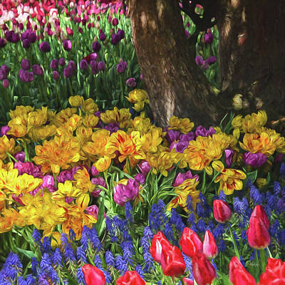 Painting - A Brush With Spring - Flower Art by Jordan Blackstone