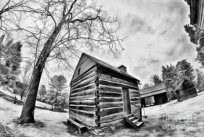 Painting - A Cabin At Tannenbaum Ap by Dan Carmichael