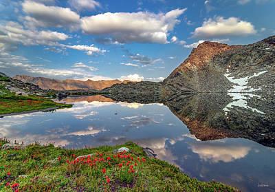 Photograph - A Calm Mountain Lake by Leland D Howard