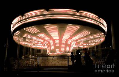 Photograph - A Carousel By Night by Yali Shi