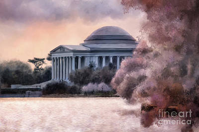 Digital Art - A Cherry Blossom Dawn by Lois Bryan