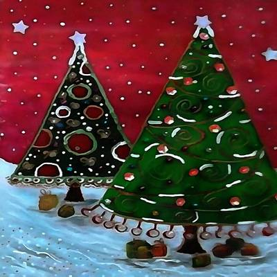 Painting - A Childlike View Of Christmas  by Taiche Acrylic Art