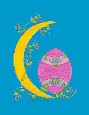 Belinda Landtroop Mixed Media - A Childs Moon Dream by Belinda Landtroop