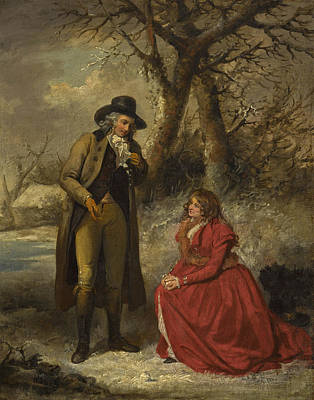 Painting - A Christmas Gambol by George Morland