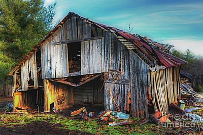 Photograph - A Classic Vintage Barn In The Blue Ridge by Dan Carmichael