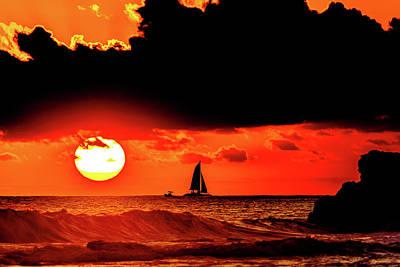 Photograph - A Coastal Warm Scene by John Bauer