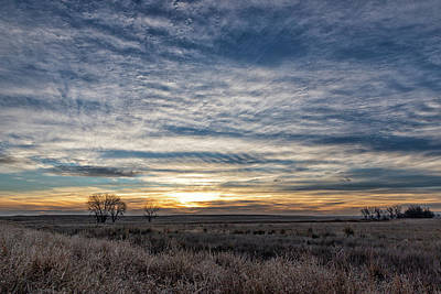 Photograph - A Cold Winter Sunrise On The Plains by Tony Hake