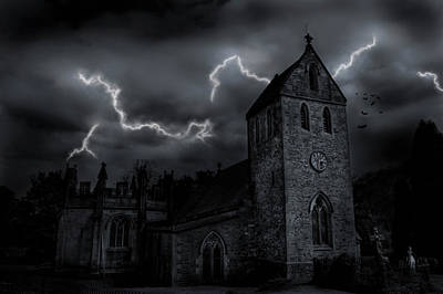 Photograph - A Composite Of A Church In England by Hans Neleman
