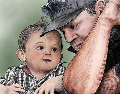 Digital Art - A Conversation With Daddy  by Rick Adleman