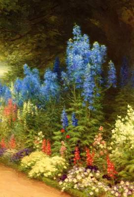 Joseph Farquharson Wall Art - Painting - A Corner Of My Garden At Finzean by Farquharson Joseph