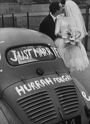 Photograph - A Couple Just Married.  Photo By Loomis by Loomis Dean