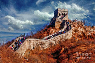 Photograph - A Crowded Great Wall China by Blake Richards