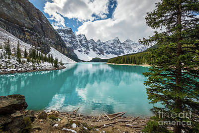 Photograph - A Day At Moraine Lake by Inge Johnsson