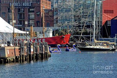 Photograph - A Day At The Inner Harbor by Walter Oliver Neal