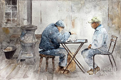 Painting - A Decisive Move by Monte Toon