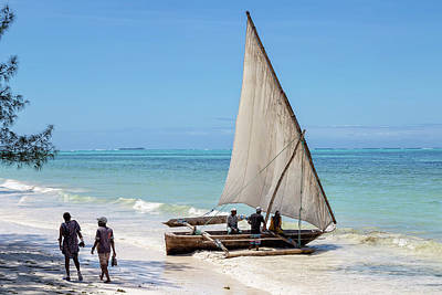 Photograph - A Dhow In Zanzibar by Kay Brewer