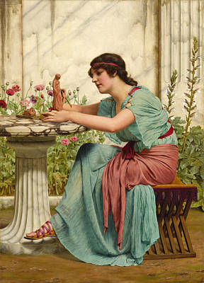Painting - A Dilettante by John William Godward