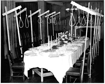 Book Quotes - A dinner table set up for 14 unsuspecting guests in 1946 by Celestial Images