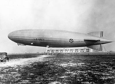 Photograph - A Dirigible by Topical Press Agency
