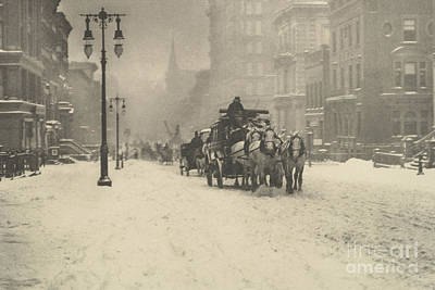 Photograph - A Dreary Day by Alfred Stieglitz