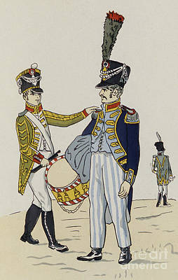 Drawing - A Drummer And Master Baker Of The Prefectural Guard Of Hamburg by Christoph Suhr