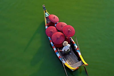 Photograph - A Dug Out Canoe On The Rivers Of The by Mint Images - Art Wolfe