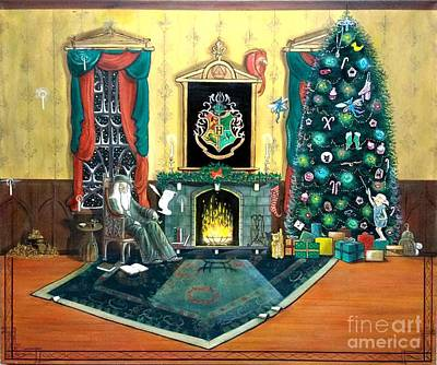 Painting - A Dumbledore Christmas by John Lyes