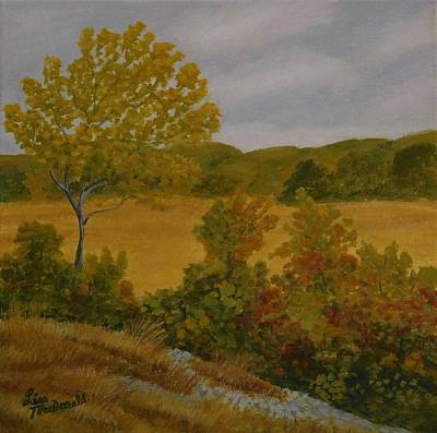 Wall Art - Painting - A Fall Day by Lisa MacDonald