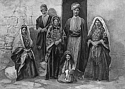 Photograph - A Family From Ramallah by Munir Alawi