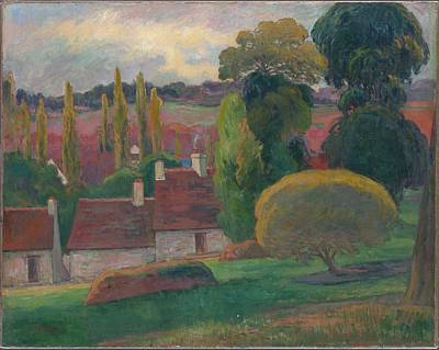 Mannequin Dresses - A Farm in Brittany 1884 by Paul Gauguin