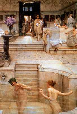 Painting - A Favorite Custom 1909  by Sir Lawrence Alma Tadema