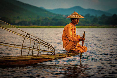 Photograph - A Fisherman Of Inle Lake by Chris Lord