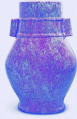 Royalty-Free and Rights-Managed Images - A FLAMBE-GLAZED VASE, HU QING DYNASTY, 18TH 19TH CENTURY art by Ahmet Asar by Ahmet Asar