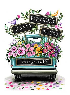 Bear Photography Rights Managed Images - A Flower Truck Birthday Royalty-Free Image by Elizabeth Robinette Tyndall