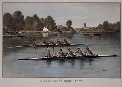 Oar Painting - A Four-oared Shell Race, Lithorgaph by Superstock