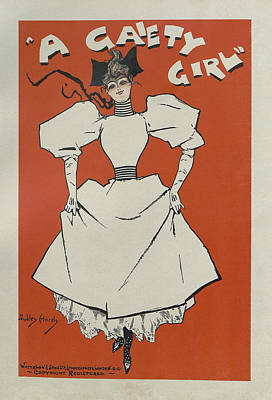 Painting - A Gaiety Girl, 1894 French Vintage Poster by Dudley Hardy