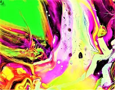 Painting - A Galaxy Far, Far Away by Allison Constantino