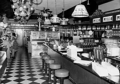 General Photograph - A General View Of The Interior Of Jahns by New York Daily News Archive