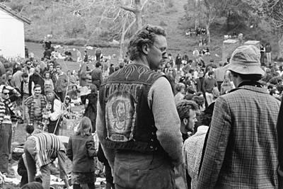 Photograph - A Generic Man Wearing A Biker Vest by Michael Ochs Archives